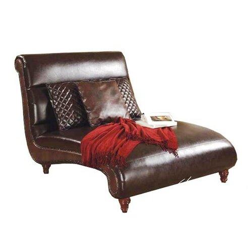 harmonic leather dual massage chaise wayfair. Black Bedroom Furniture Sets. Home Design Ideas