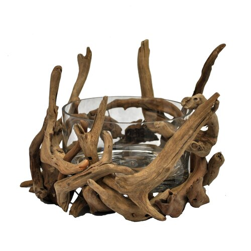 Driftwood Round Glass Bowl