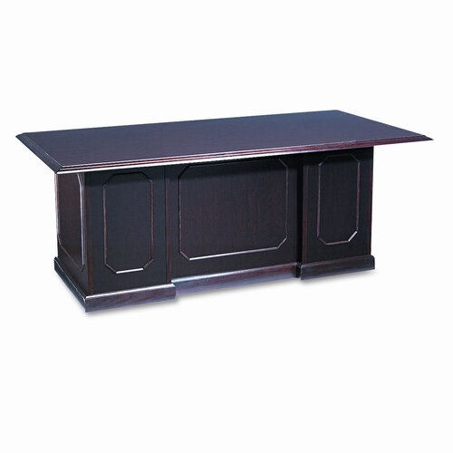 "DMI Office Furniture Governor's Series Double Pedestal Desk, 72"" Wide"