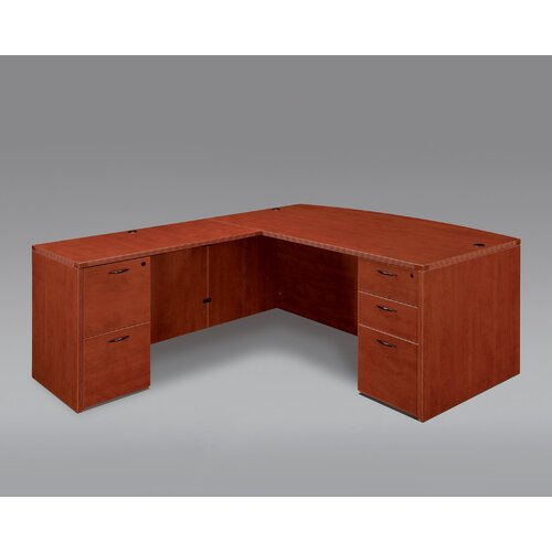DMI Office Furniture Fairplex Right / Left Executive Bow Front L Desk