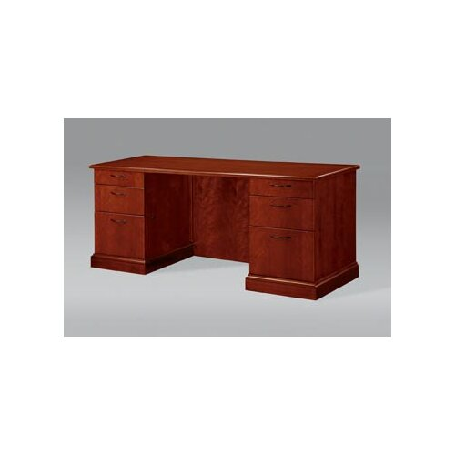 DMI Office Furniture Belmont Credenza with Full Return Base Mouldings with 6 Drawers