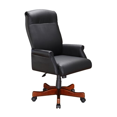 DMI Office Furniture High Black Leather Roll Office Chair with Arm