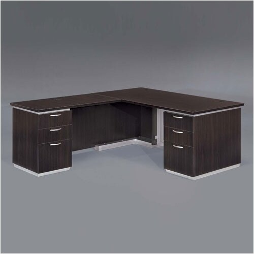 "DMI Office Furniture Pimlico 72"" W L-Shape Executive Desk with Return"