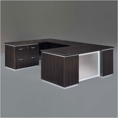 DMI Office Furniture Pimlico Lateral File U-Shape Executive Desk