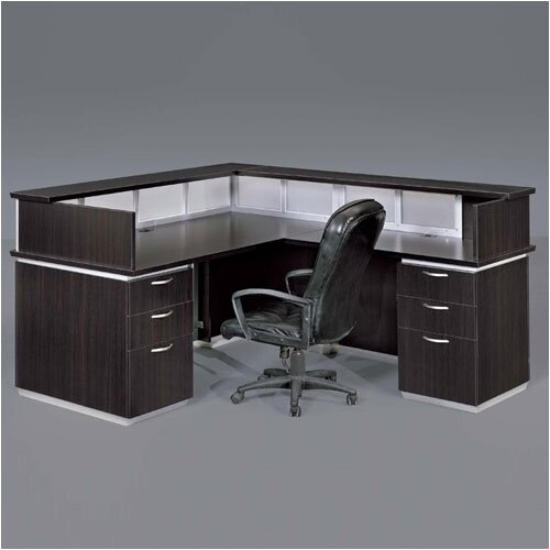 DMI Office Furniture Pimlico Right Reception Desk (Flat Pack)