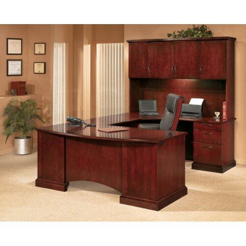 DMI Office Furniture Belmont Corner Executive U-Shape Desk with Right Return