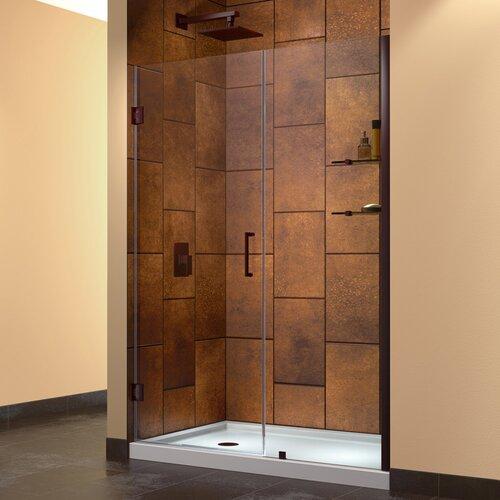 """Dreamline Unidoor 47 - 48"""" W x 72"""" H Hinged Shower Door"""