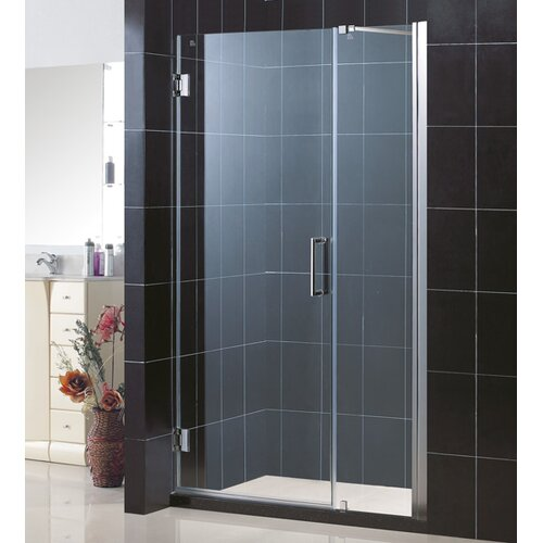 "Dreamline Unidoor Frameless Hinged Shower Door with 18"" Panel"