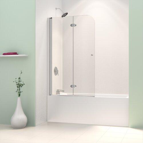Dreamline Aquafold 36 Quot X 58 Quot Frameless Hinged Tub Door
