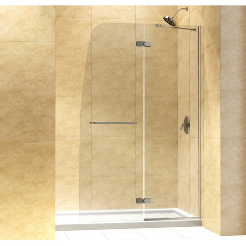 Clear Glass Hinged Shower Door : Shower tub doors wayfair