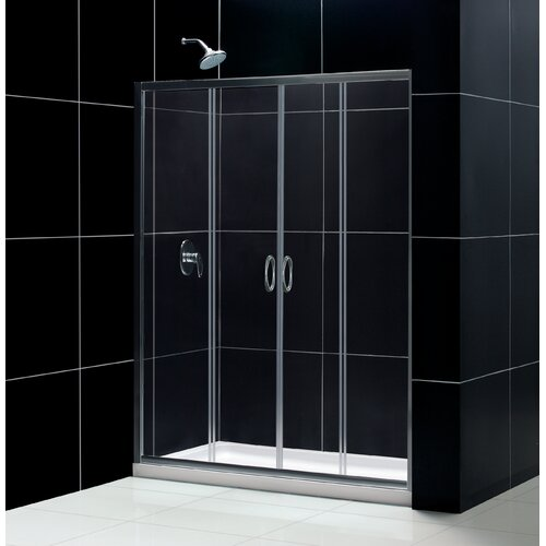 Dreamline Visions Bypass Shower Door and SlimLine Shower Base