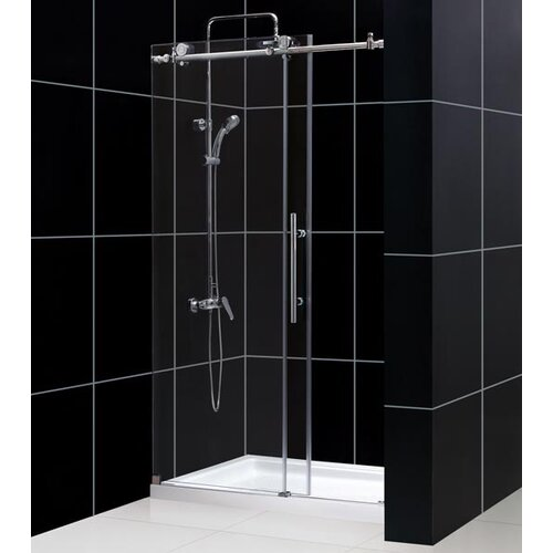 "Dreamline Enigma-X Fully Frameless 44"" - 60"" W x 76"" H Sliding Shower Door"