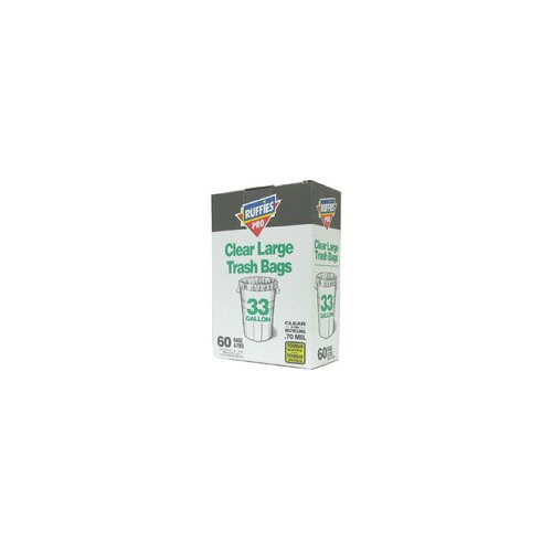 Berry 33 Gallon Large Trash Bags in Clear (60 Count)