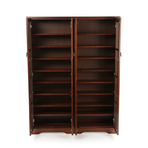 Leslie Dame Enterprises Glass Door Double Multimedia Cabinet