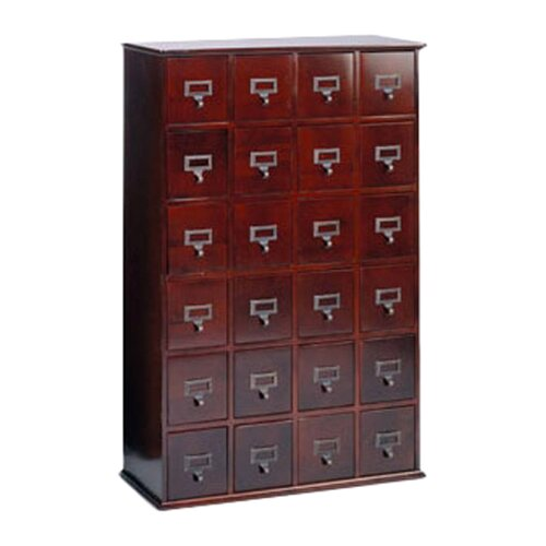 Leslie Dame Enterprises Library Style 24 Drawer Multimedia Cabinet