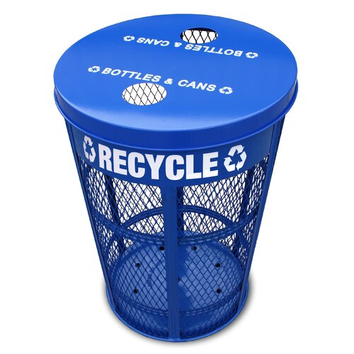 Witt Expanded Outdoor 48 Gallon Industrial Recycling Bin