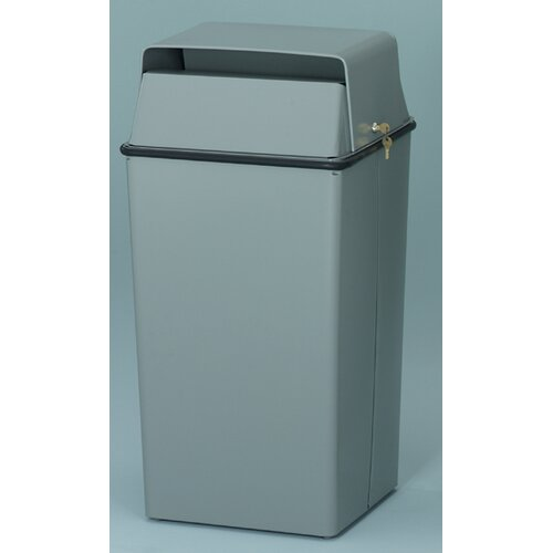 Witt 36 Gallon Secure Document Receptacle with Tumbler Lock and Keys