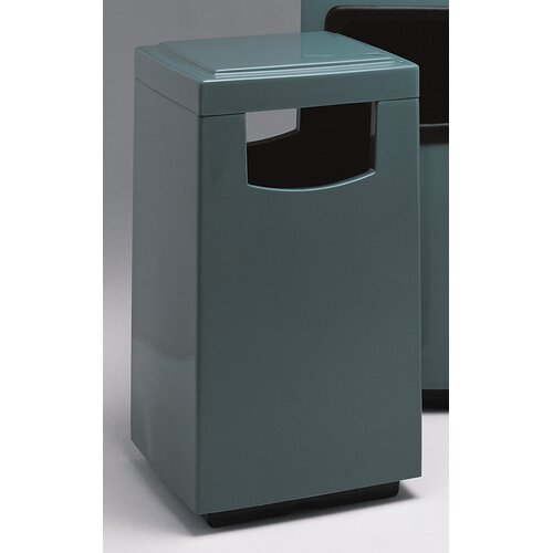 Witt Fiberglass Series 30 Gallon Side Entry Square Receptacle
