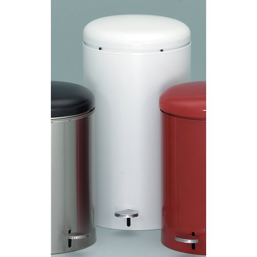 Witt Metal Series 7 Gallon Step-On Trash Can with Galvanized Liner