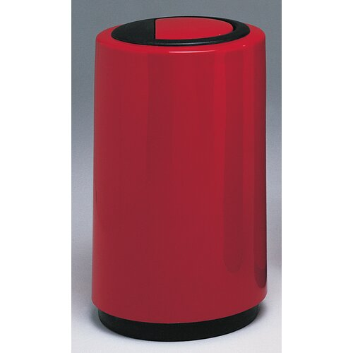 Witt Fiberglass Series 21 Gallon Top Entry Round Receptacle with Doors on Trash Opening
