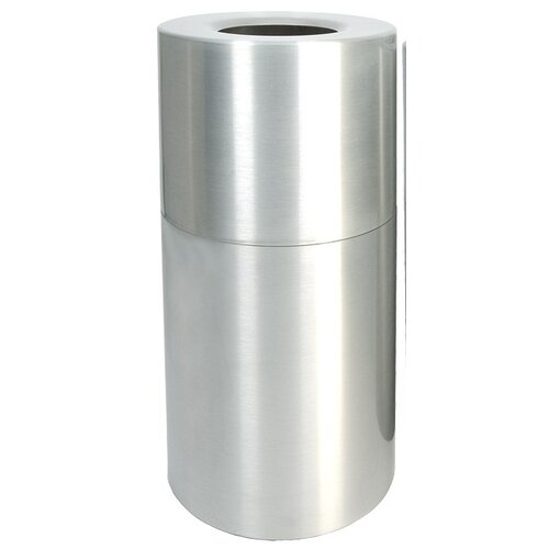 Witt Stadium Series 35 Gallon Aluminum Receptical with Liner