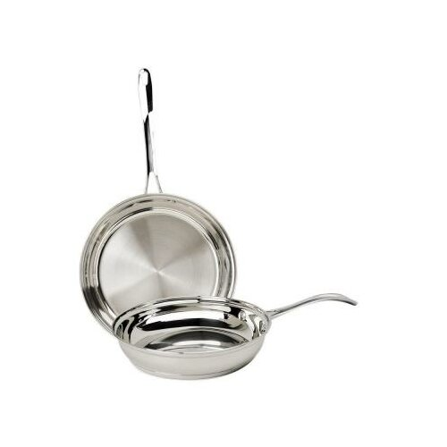 2 Piece Stainless Steel Frying Pan Set