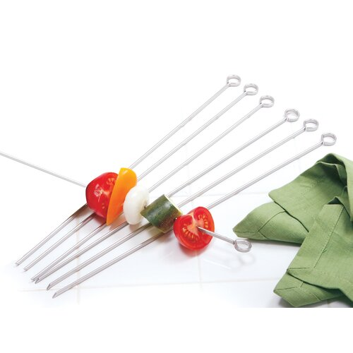 "Norpro 14"" Stainless Steel Skewers (Set of 6)"