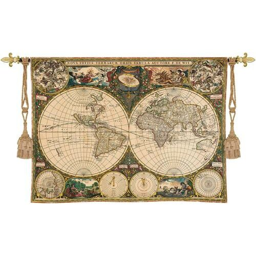 Fine Art Tapestries Old World Map Tapestry