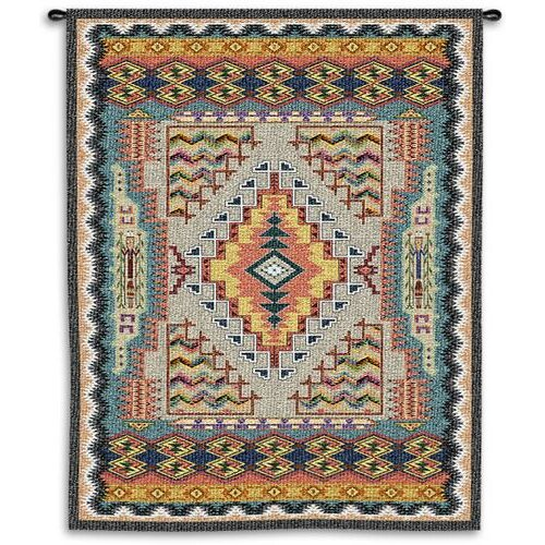 Fine Art Tapestries Southwest Turquoise Small Tapestry