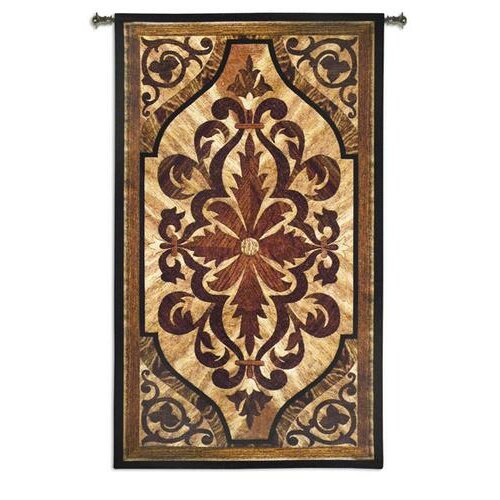 Wood Inlay Wall Decor : Fine art tapestries wood inlay birch bw tapestry reviews