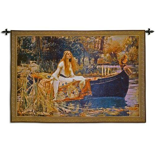 Fine Art Tapestries Lady of Shalott BW Small Tapestry