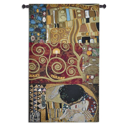 Fine Art Tapestries Elements to a Kiss by Klimt Tapestry