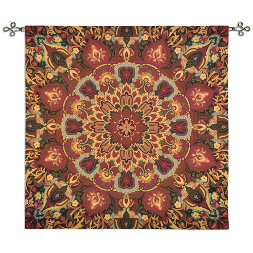 Fine Art Tapestries Rangoli Caramel by Julianna James Tapestry