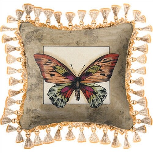 Fine Art Tapestries Butterfly Dragonfly II Pillow