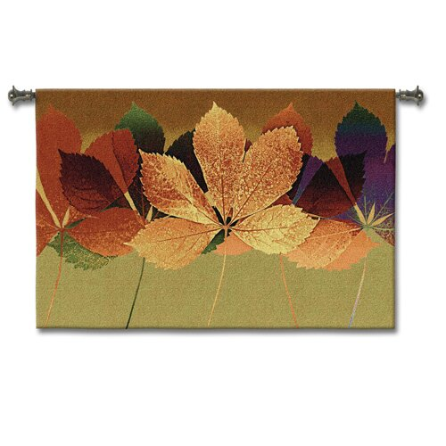 Fine Art Tapestries Abstract Leaf Dance II by Mertens Tapestry