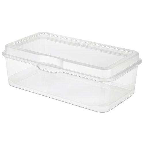 Sterilite Large Clear Flip Top Storage Box
