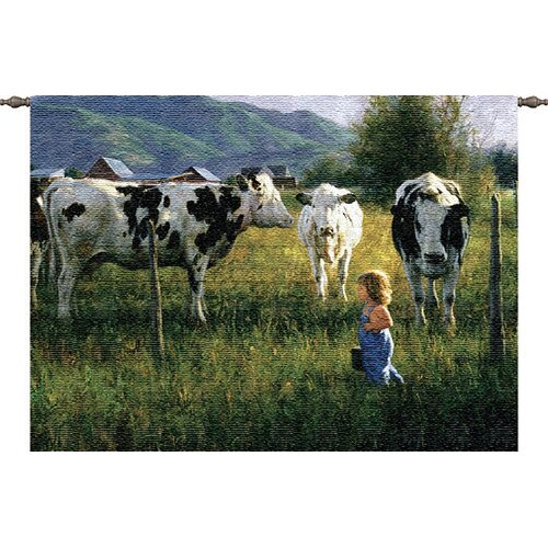 Pure Country Weavers Anniken and the Cows Tapestry