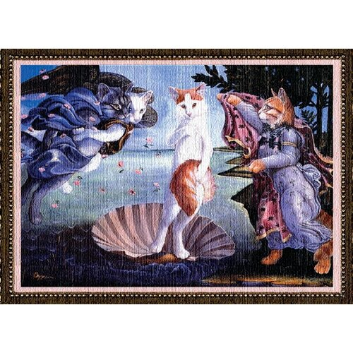 Pure Country Weavers Kitty on a Half Shell Tapestry