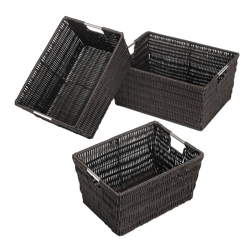 3 Piece Rattique Baskets