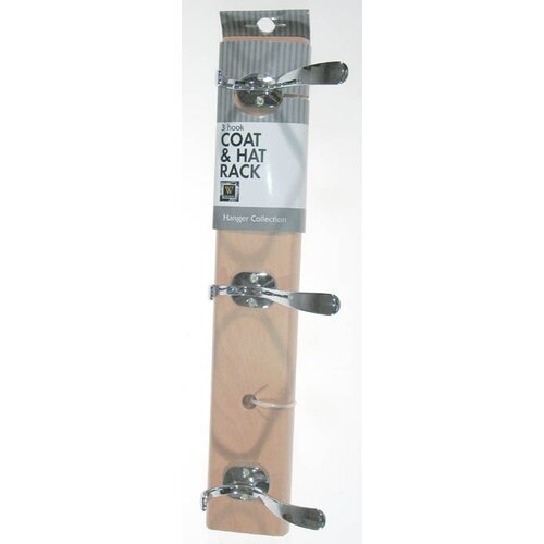 3 Hook Coat and Hat Rack