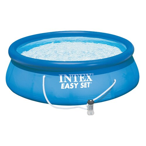 """Intex Round 42"""" Deep Easy Set Complete Pool Kit with Ladder"""