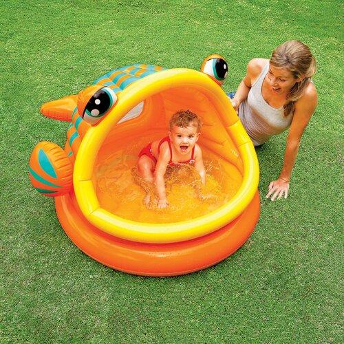 Intex lazy fish shade baby pool for Intex pool koi pond