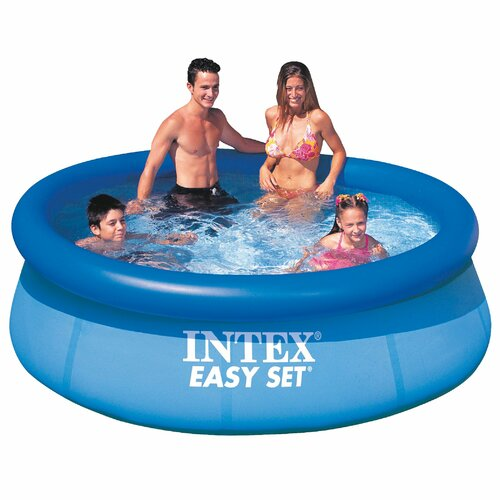 "Intex Round 30"" Deep Intex Easy Set Pumpless Pool"