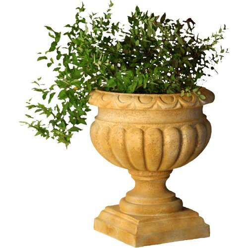 OrlandiStatuary Planter Tall Fluted Round Urn Planter