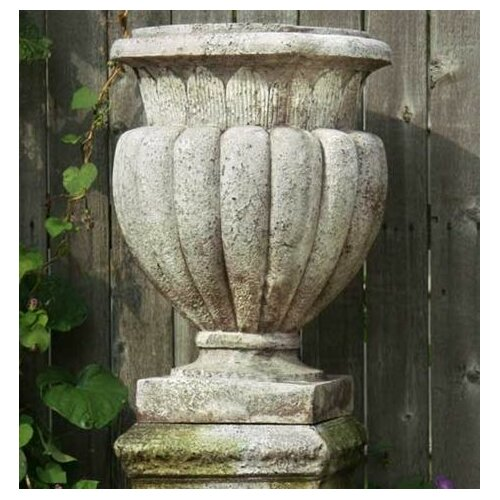 OrlandiStatuary Carved Stadium Round Urn Planter
