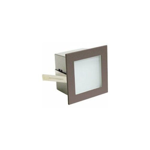 Retrofit Step Light One Light Wall Recessed with Bronze Faceplate in Metallic Grey