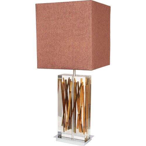"Van Teal Earth Wise Running Bamboo 33"" H Table Lamp with Square Shade"