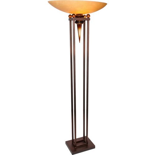 You Will Remember Triumphant 1 Light Torchiere Floor Lamp Wayfair