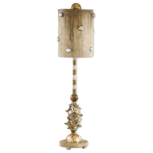 "Flambeau Lighting Pome 25.5"" H Table Lamp Drum Shade"
