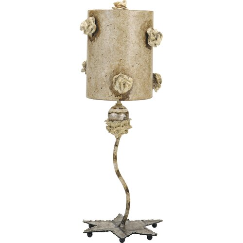 "Flambeau Lighting La Fleurette 21.5"" H Table Lamp Drum Shade"